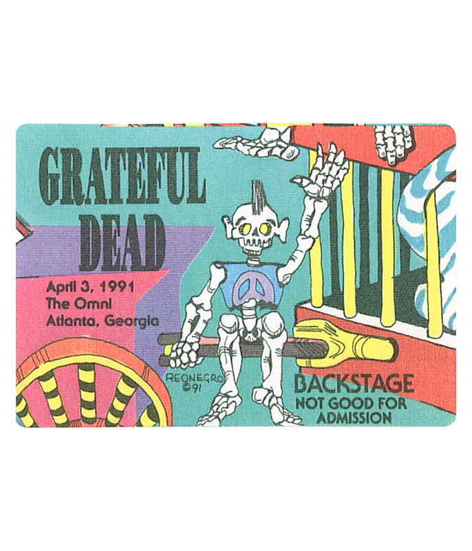 GRATEFUL DEAD 1991 04-03 BACKSTAGE PASS