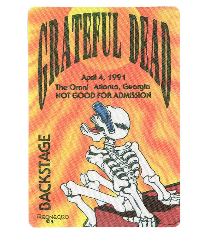 GRATEFUL DEAD 1991 04-04 BACKSTAGE PASS