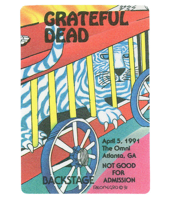 The Vault Grateful Dead 1991 04-05 Backstage Pass Liquid Blue