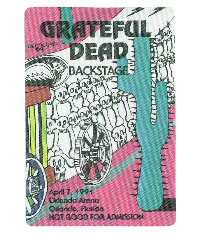 GRATEFUL DEAD 1991 04-07 BACKSTAGE PASS