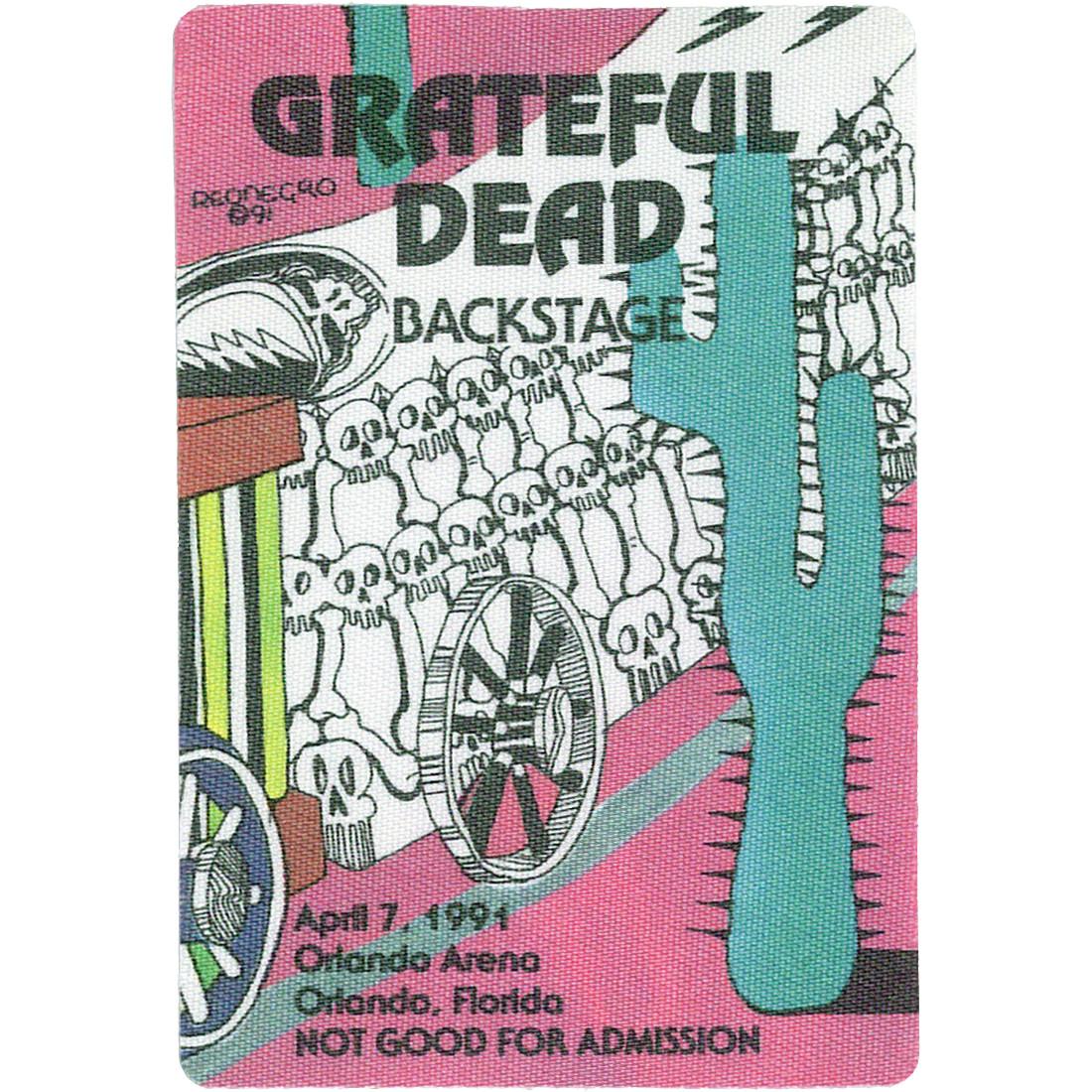 Grateful Dead 1991 04-07 Backstage Pass