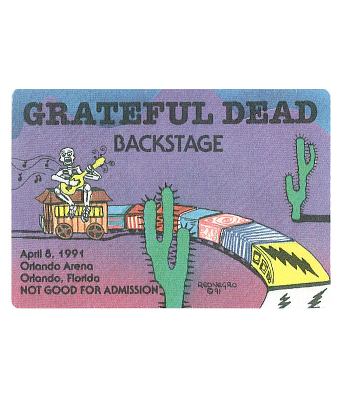 GRATEFUL DEAD 1991 04-08 BACKSTAGE PASS