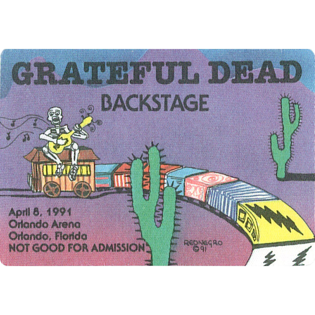 Grateful Dead 1991 04-08 Backstage Pass