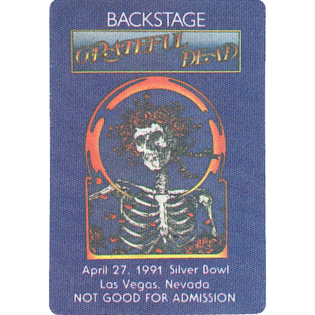 Grateful Dead 1991 04-27 Backstage Pass