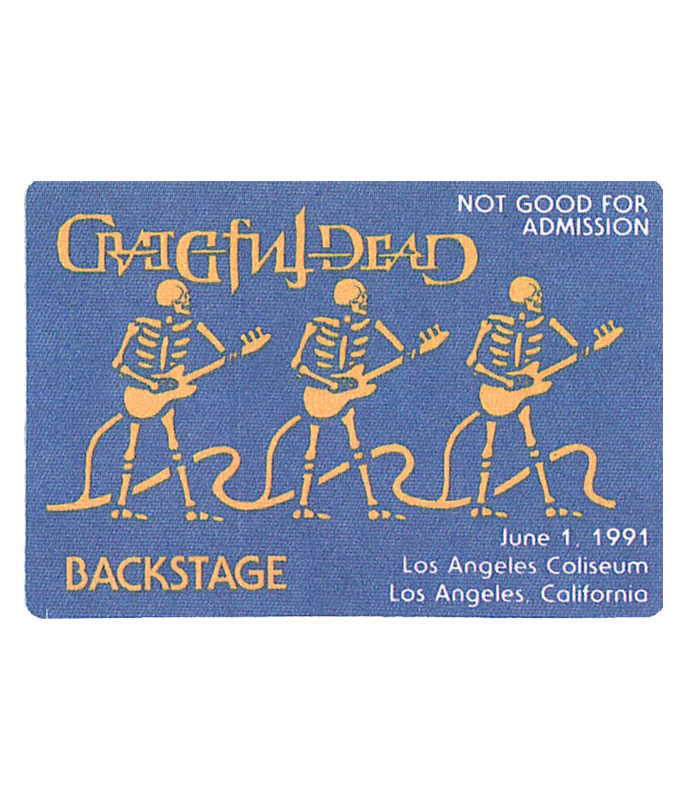 The Vault Grateful Dead 1991 06-01 Backstage Pass Liquid Blue