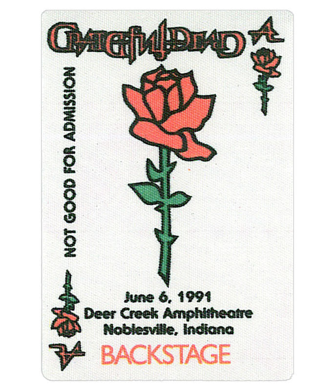 Grateful Dead 1991 06-06 Backstage Pass