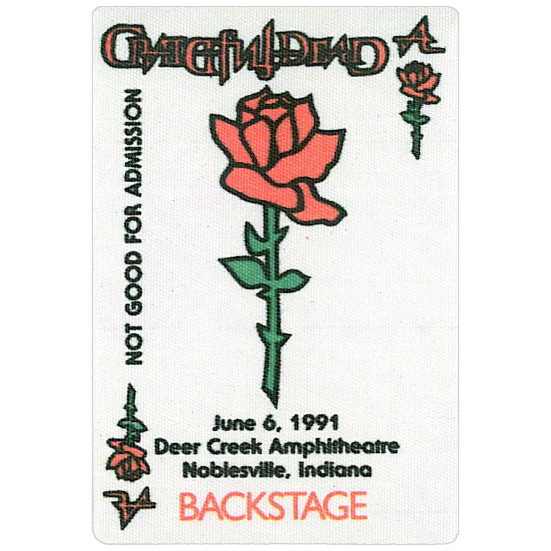 Grateful Dead 1991 06-06 Backstage Pass