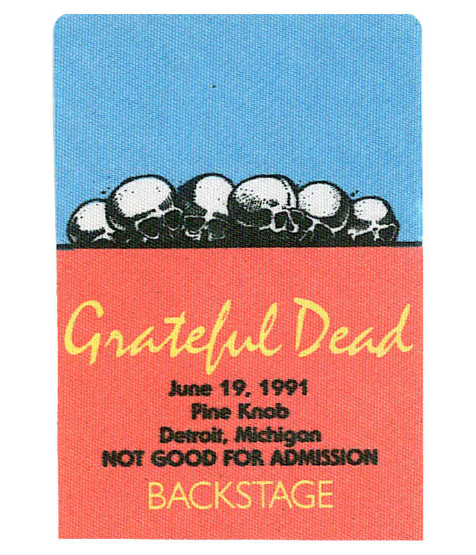 GRATEFUL DEAD 1991 06-19 BACKSTAGE PASS