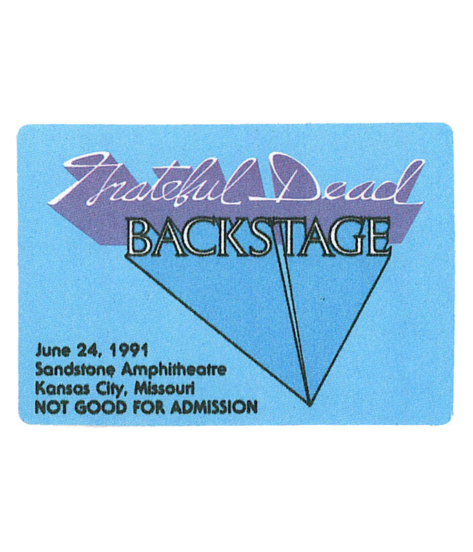 The Vault Grateful Dead 1991 06-24 Backstage Pass Liquid Blue