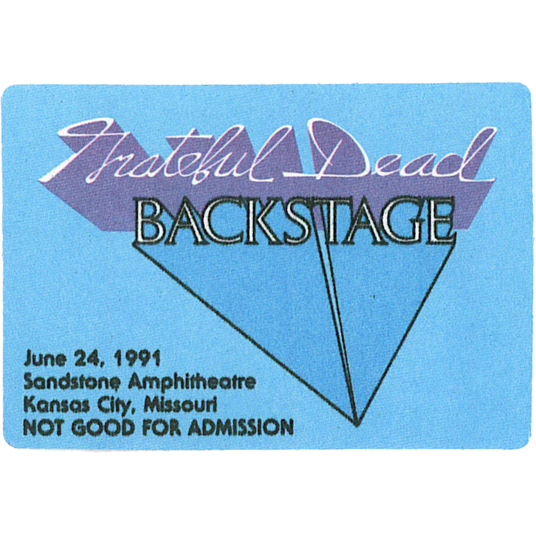Grateful Dead 1991 06-24 Backstage Pass