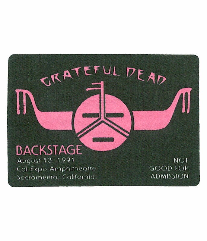 GRATEFUL DEAD 1991 08-13 BACKSTAGE PASS