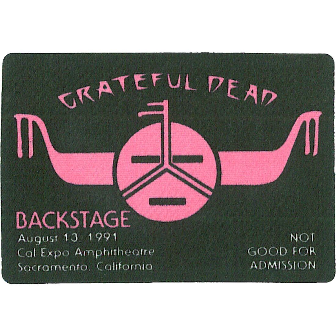 Grateful Dead 1991 08-13 Backstage Pass