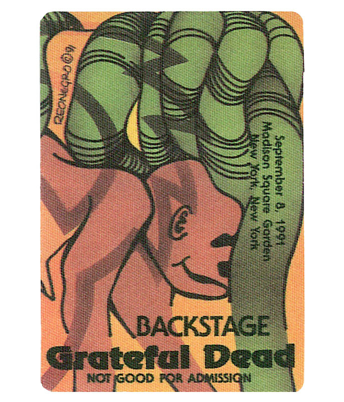 GRATEFUL DEAD 1991 09-08 BACKSTAGE PASS
