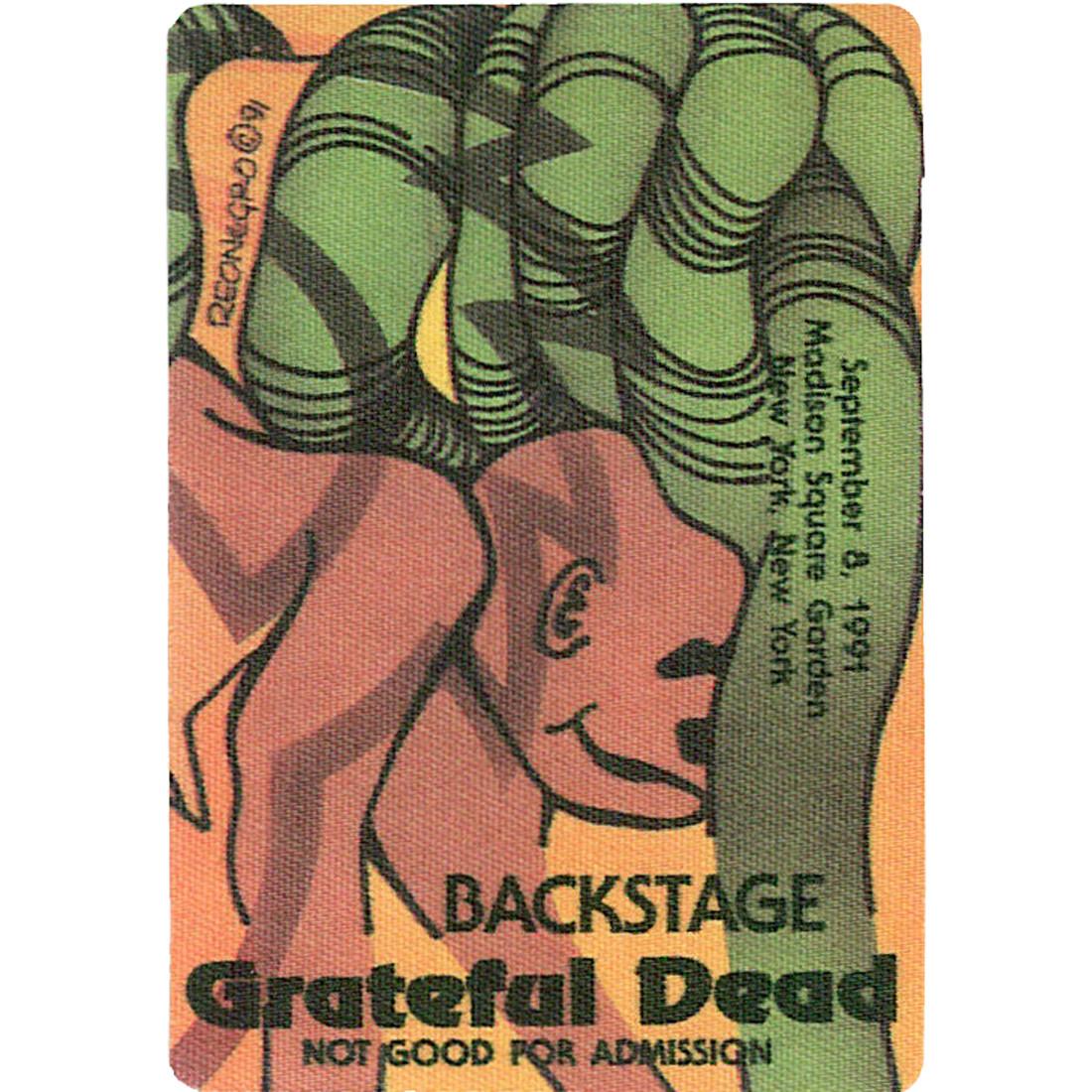 Grateful Dead 1991 09-08 Backstage Pass