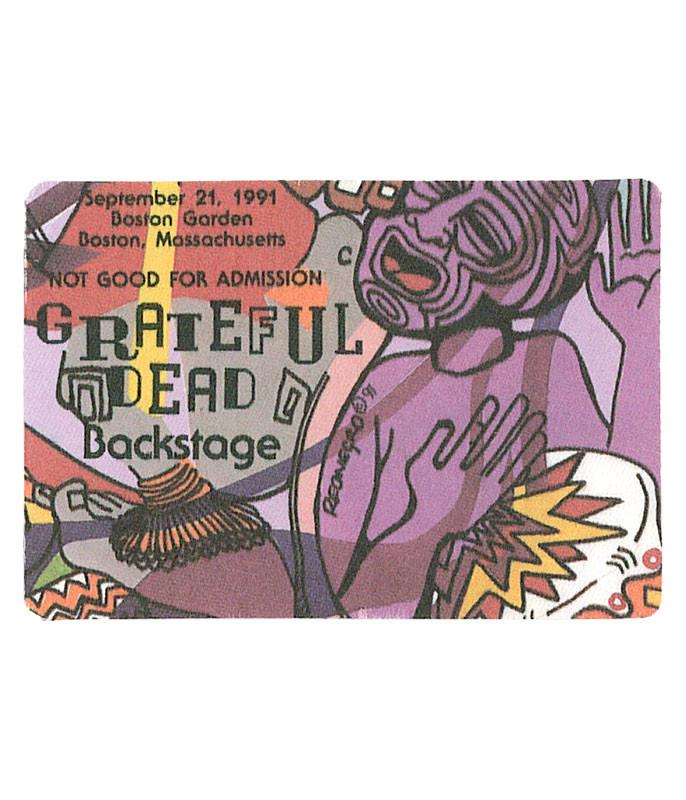 GRATEFUL DEAD 1991 09-21 BACKSTAGE PASS