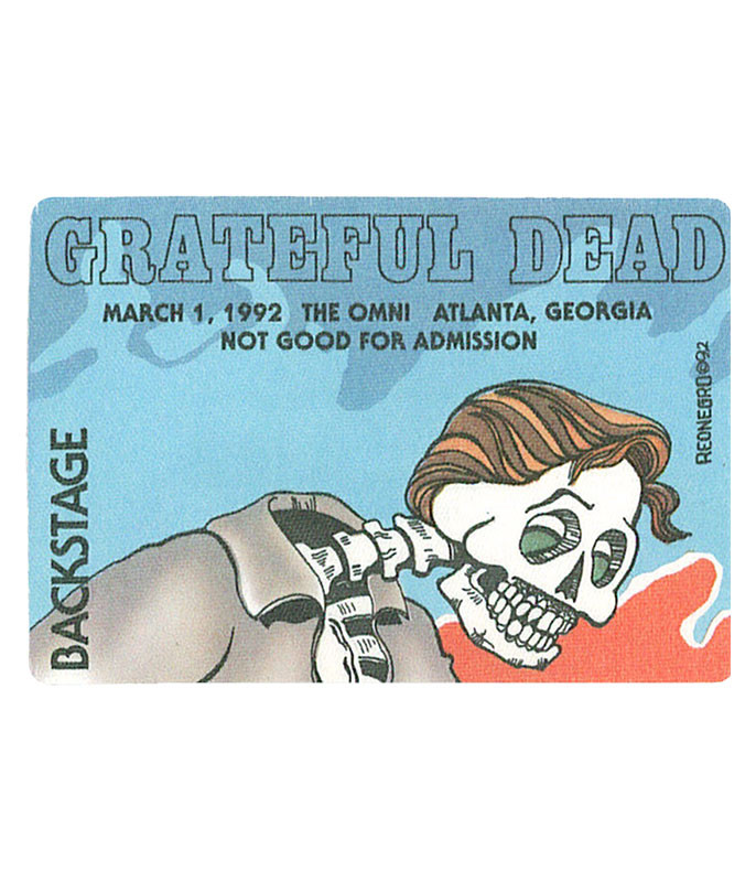 GRATEFUL DEAD 1992 03-01 BACKSTAGE PASS