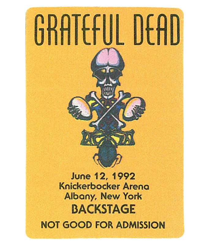 GRATEFUL DEAD 1992 06-12 BACKSTAGE PASS