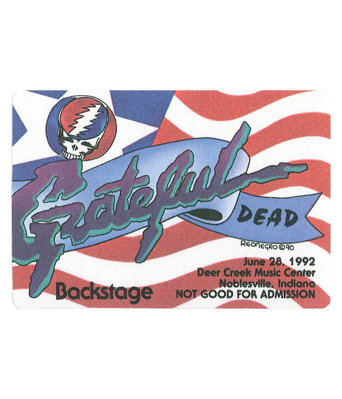 GRATEFUL DEAD 1992 06-28 BACKSTAGE PASS
