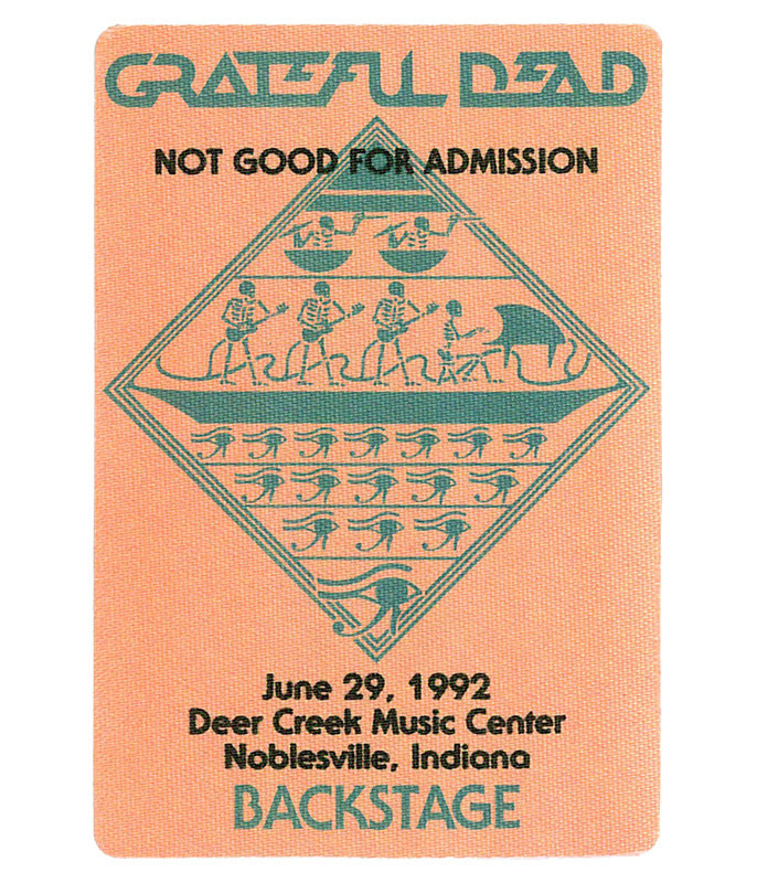 GRATEFUL DEAD 1992 06-29 BACKSTAGE PASS