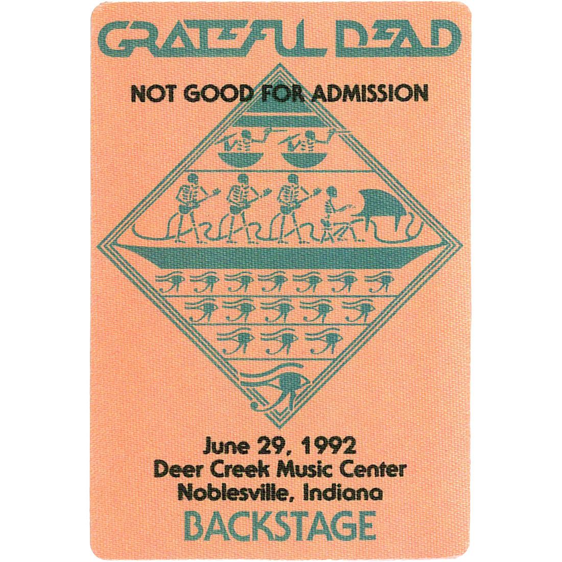 Grateful Dead 1992 06-29 Backstage Pass