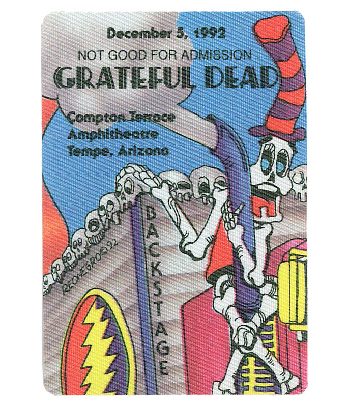 GRATEFUL DEAD 1992 12-05 BACKSTAGE PASS