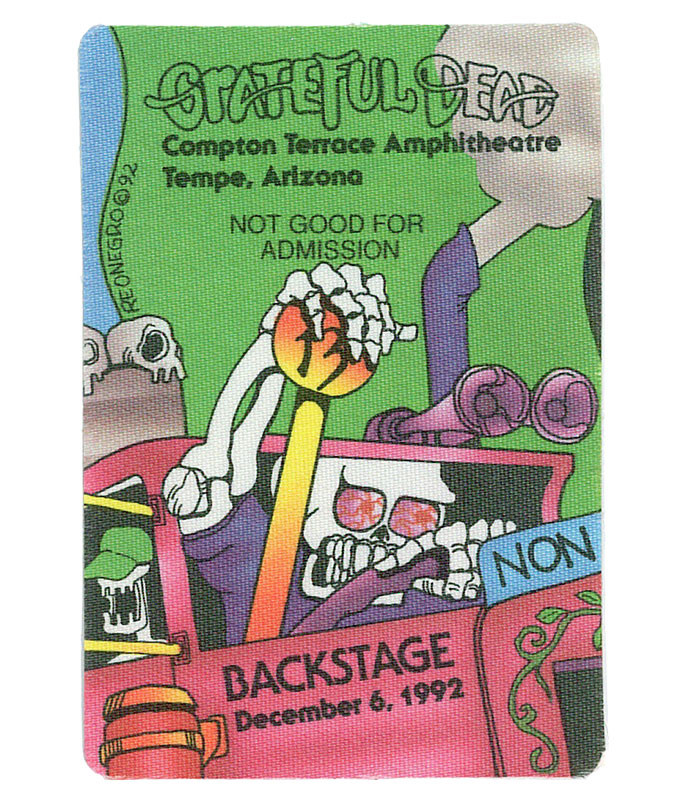 GRATEFUL DEAD 1992 12-06 BACKSTAGE PASS