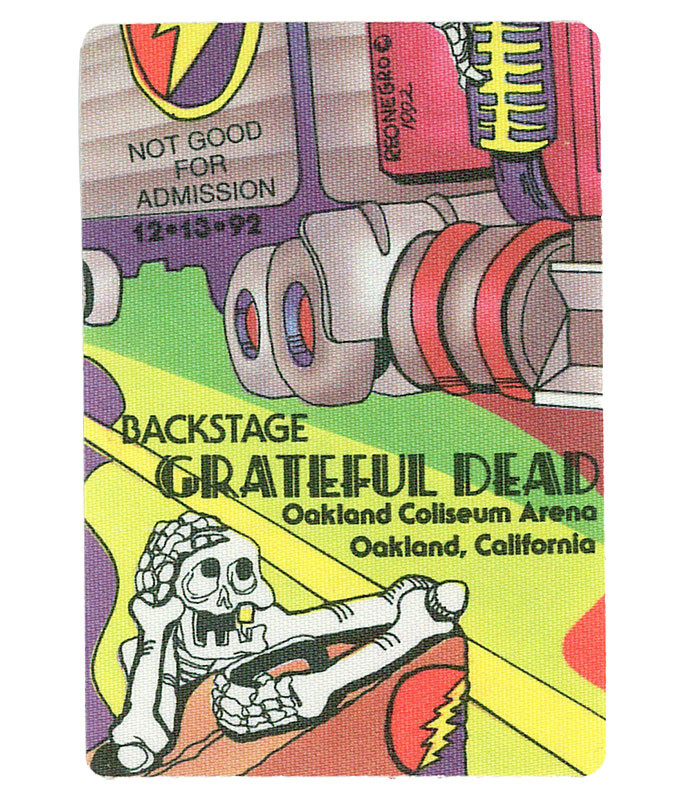 GRATEFUL DEAD 1992 12-13 BACKSTAGE PASS