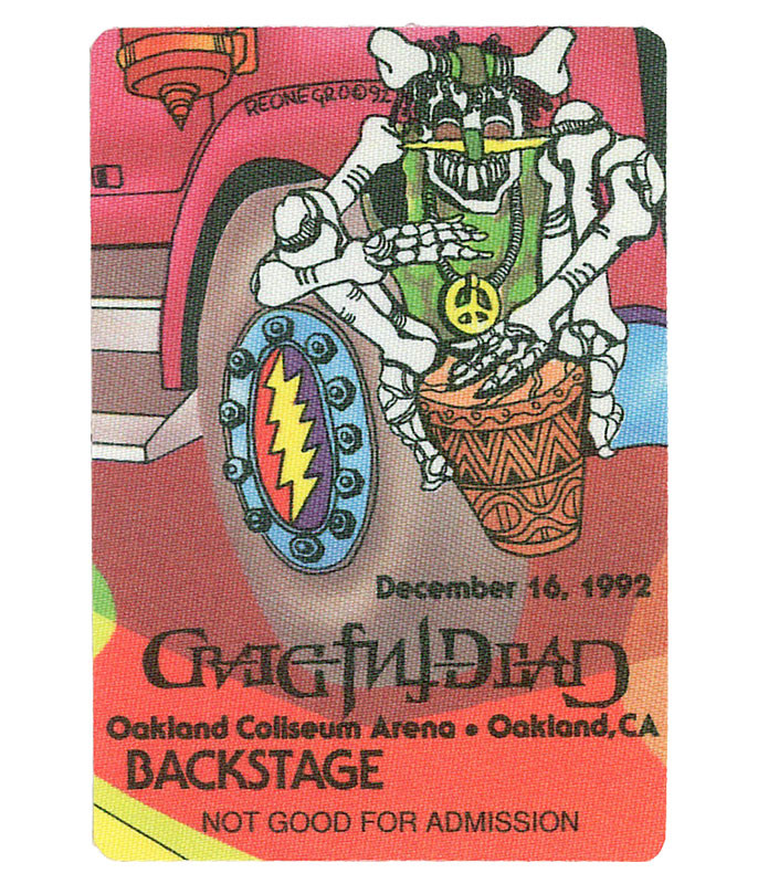 GRATEFUL DEAD 1992 12-16 BACKSTAGE PASS