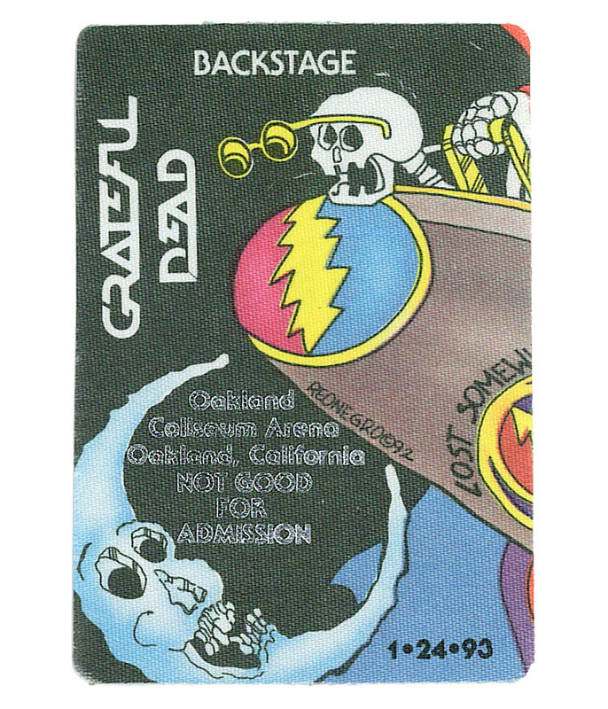 Grateful Dead 1993 01-24 Backstage Pass