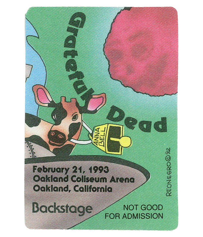 GRATEFUL DEAD 1993 02-21 BACKSTAGE PASS