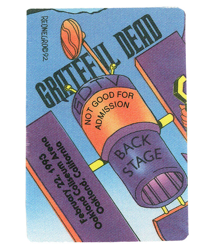 GRATEFUL DEAD 1993 02-22 BACKSTAGE PASS