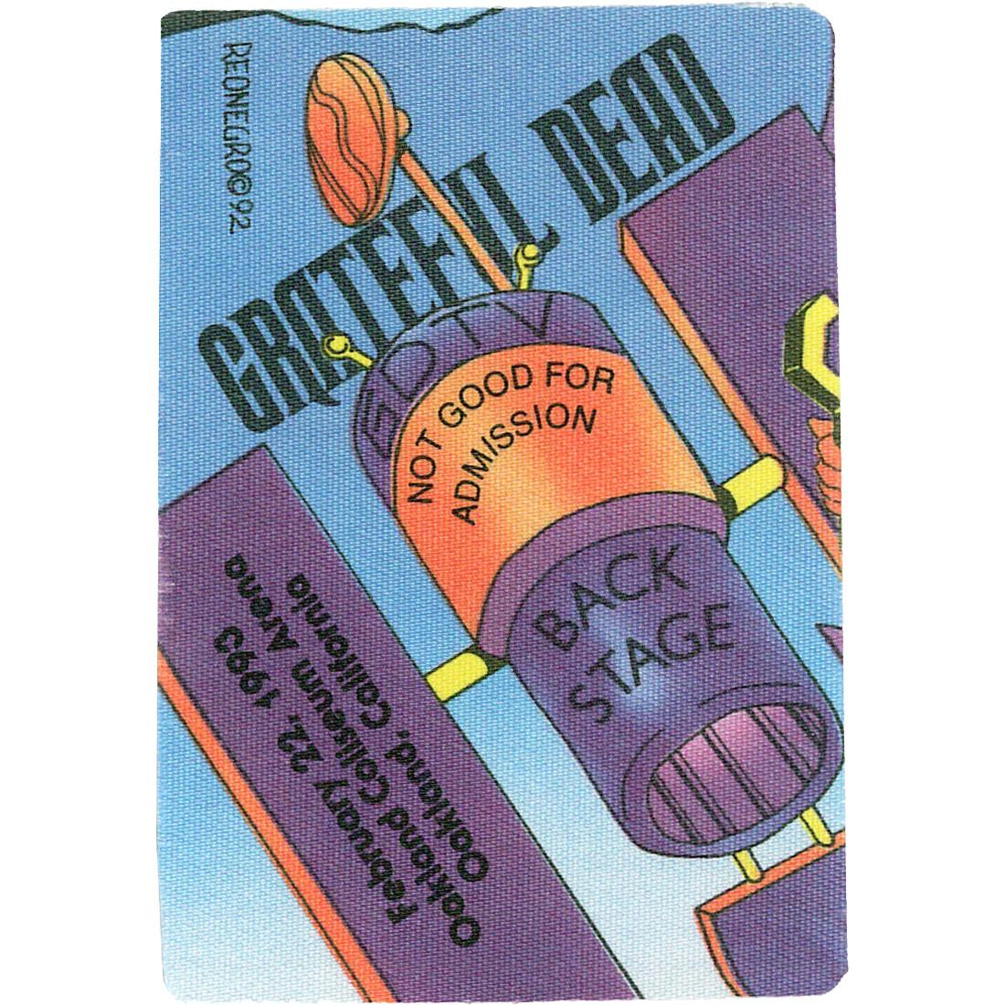 Grateful Dead 1993 02-22 Backstage Pass