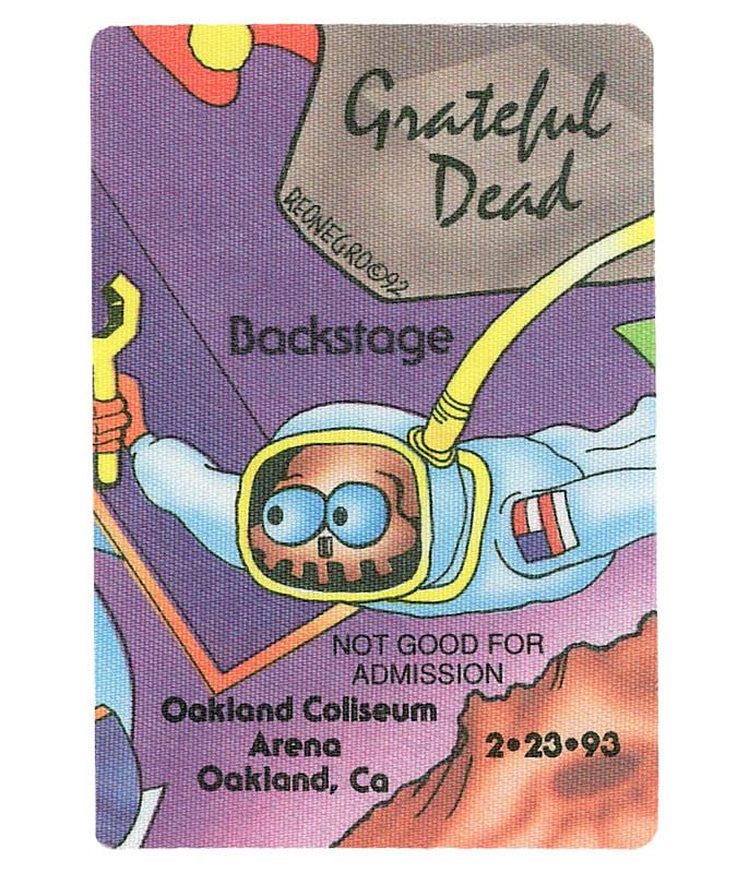 GRATEFUL DEAD 1993 02-23 BACKSTAGE PASS