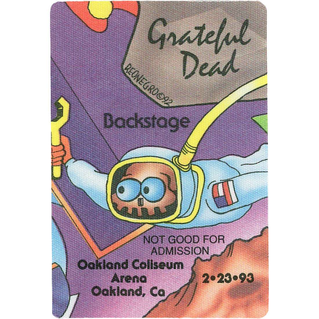 Grateful Dead 1993 02-23 Backstage Pass