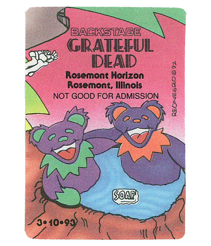 GRATEFUL DEAD 1993 03-10 BACKSTAGE PASS