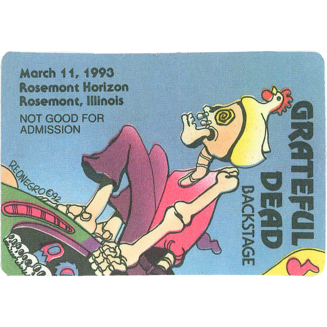 Grateful Dead 1993 03-11 Backstage Pass