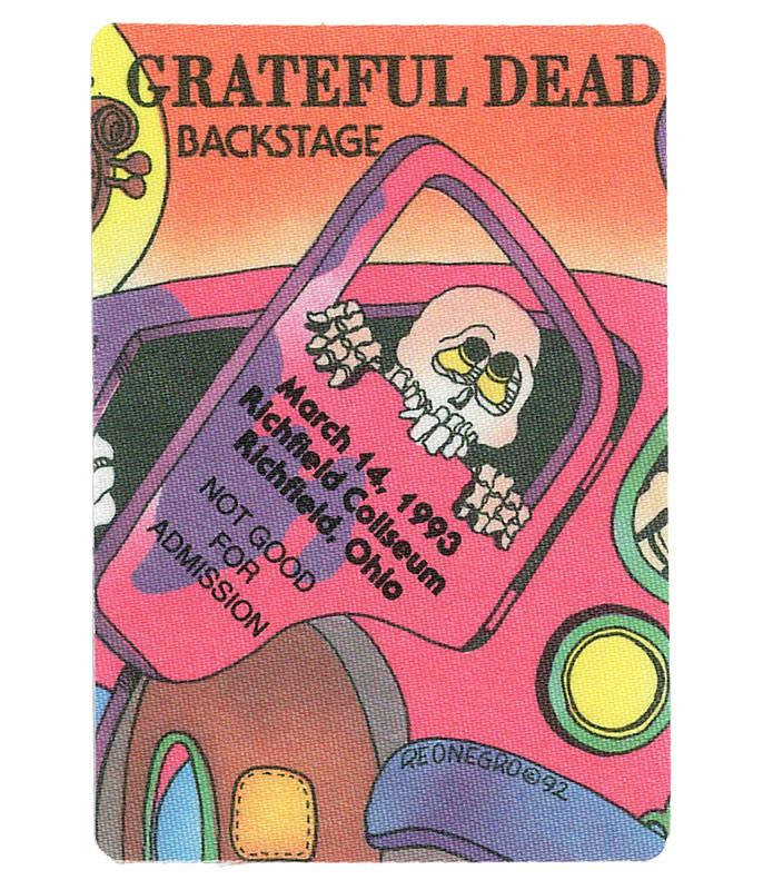 Grateful Dead 1993 03-14 Backstage Pass