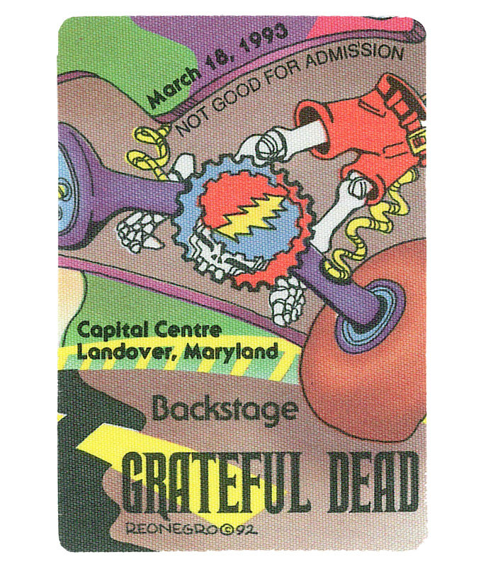 GRATEFUL DEAD 1993 03-18 BACKSTAGE PASS