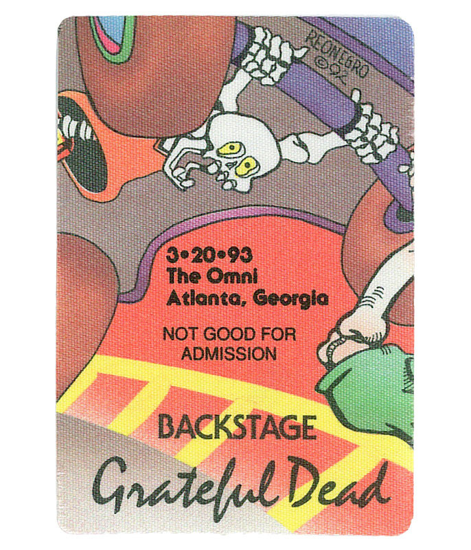 The Vault Grateful Dead 1993 03-20 Backstage Pass Liquid Blue