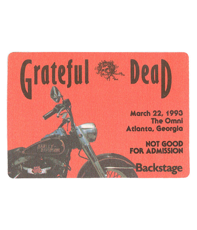 Grateful Dead 1993 03-22 Backstage Pass