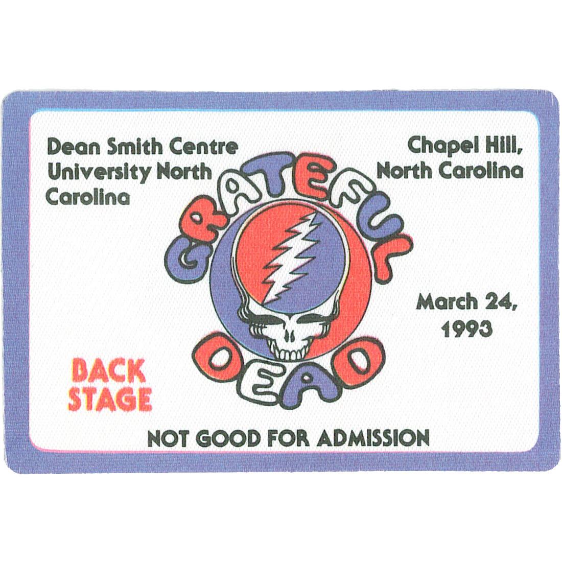 Grateful Dead 1993 03-24 Backstage Pass