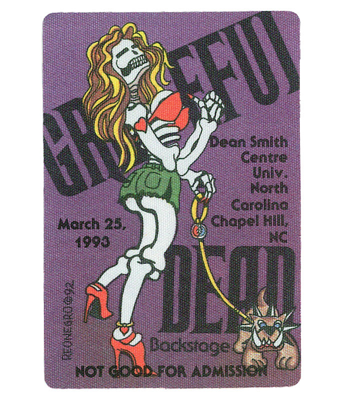 GRATEFUL DEAD 1993 03-25 BACKSTAGE PASS