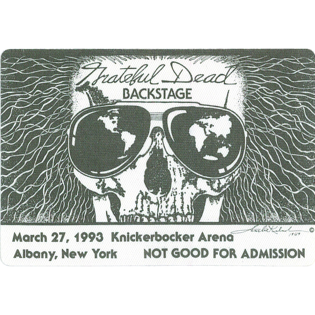 Grateful Dead 1993 03-27 Backstage Pass