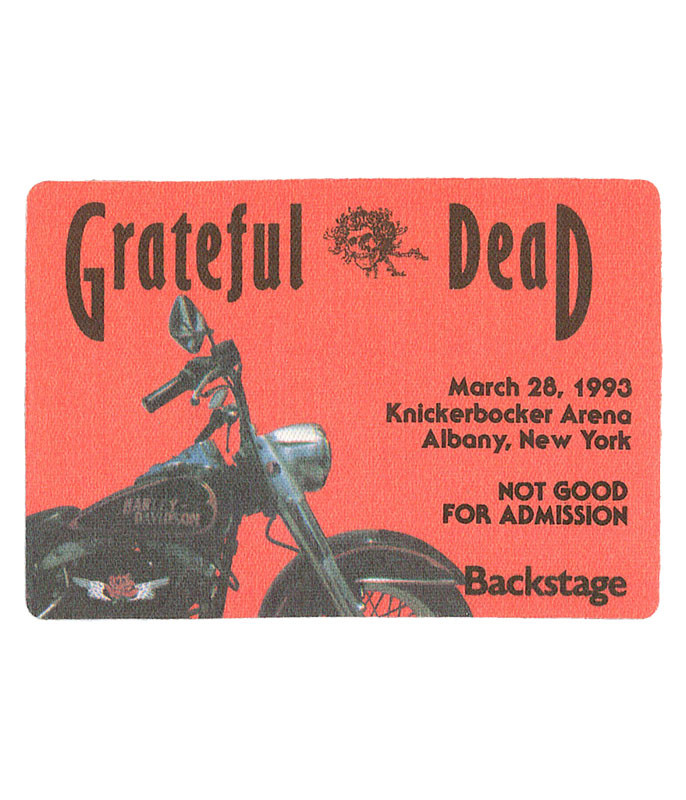 GRATEFUL DEAD 1993 03-28 BACKSTAGE PASS