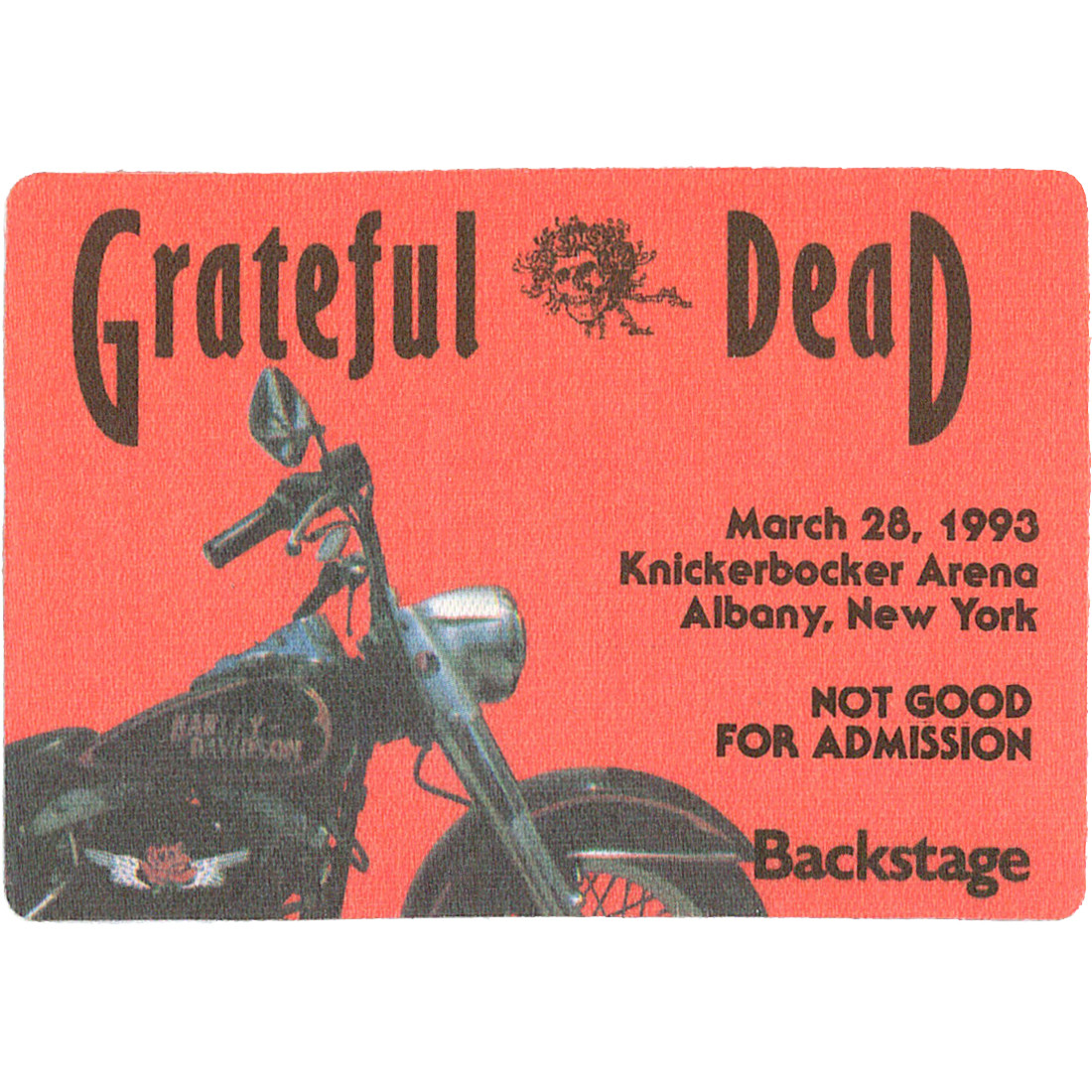 Grateful Dead 1993 03-28 Backstage Pass