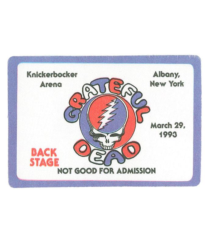 Grateful Dead 1993 03-29 Backstage Pass