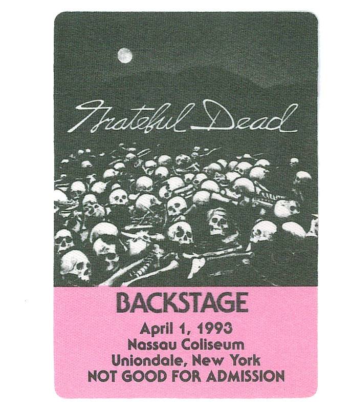 The Vault Grateful Dead 1993 04-01 Backstage Pass Liquid Blue