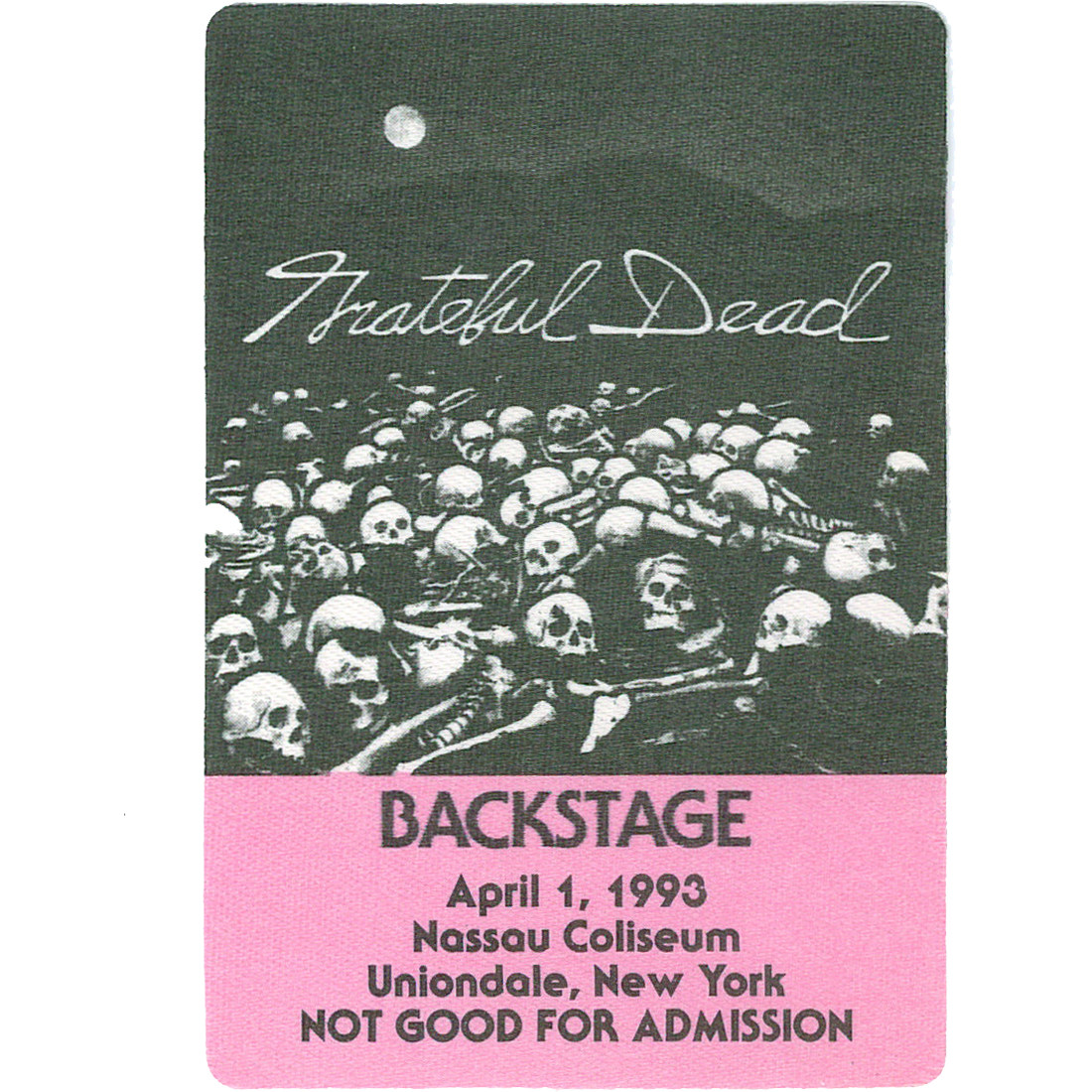 Grateful Dead 1993 04-01 Backstage Pass