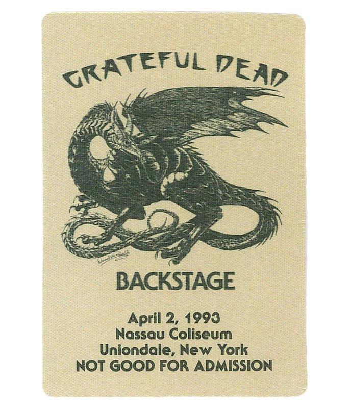 The Vault Grateful Dead 1993 04-02 Backstage Pass Liquid Blue