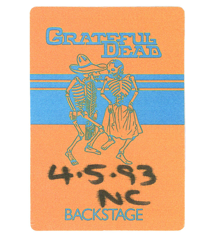 GRATEFUL DEAD 1993 04-05 BACKSTAGE PASS